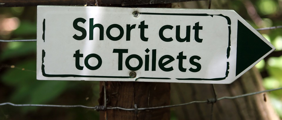 Short cut to toilets